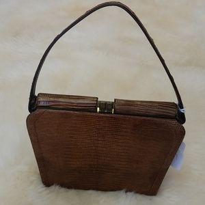 Brown Lizzard Handbag